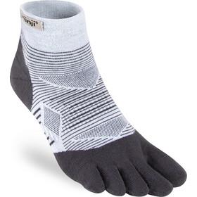 Injinji Run Lightweight Mini Crew Socks Men, wit/grijs